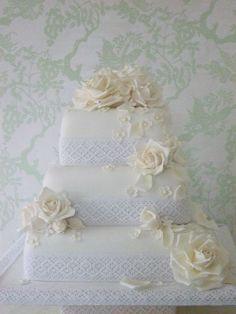 """""""White on White"""" by Maki's Cakes"""