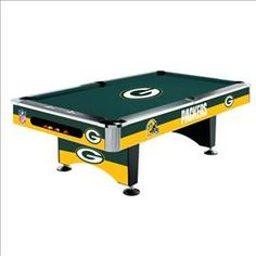 Green Bay Packers Pool Table - NFL Shop - Billiard Factory