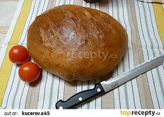 Domácí kmínový chleba recept - TopRecepty.cz Hamburger, Bread, Food, Meal, Hamburgers, Essen, Hoods, Burgers, Breads