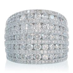 This much go up to the knuckle!  LOL Eleven Row Fancy and Sparkly Diamond Anniversary Wedding Right Hand Band Ring. $6,990.00, via Etsy.