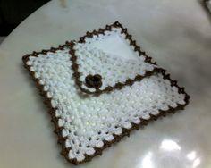 Porta guardanapos em crochet