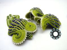 "3D Soutache earings (""Stingray""), Alina Tyro-Niezgoda, Tender December"