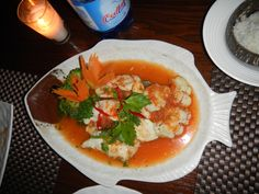 thai seafood dish-red curry!!!