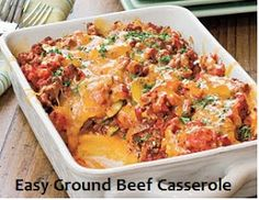 100 Ways To Prepare Hamburger | Hamburger Recipes : Easy Ground Beef Casserole