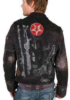 "back ""DELUX"" Custom Denim Jacket - Men's JUNKER - Jransom LA, Innovative, edgy women's and men's boutique - J Ransom Clothing Store"