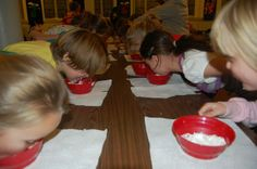 save the bears game- teddy grahams in cool whip, kids keep hands behind back and find the bears with their teeth