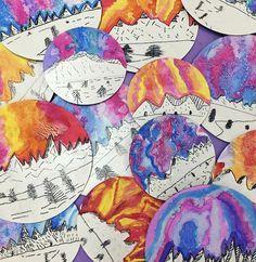 Cassie Stephens: In the Art Room: Top Ten Favorite Winter Art Lessons! Cassie Stephens: In the Art Room: Top Ten Favorite Winter Art Lessons! Christmas Art Projects, Winter Art Projects, Art Projects For Teens, Art Lessons For Kids, Art Lessons Elementary, Third Grade Art, Grade 3 Art, Winter Thema, January Art