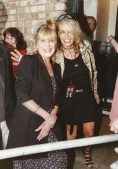 Anita Pallenberg and Marianne Faithful