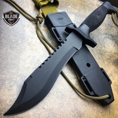 ARMY Hunting Fixed Blade Tactical Combat Survival Knife Military Bowie -C Tactical Survival, Tactical Knives, Survival Knife, Tactical Gear, Survival Gear, Survival Weapons, Outdoor Survival, Survival Prepping, Trench Knife