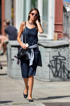 celebspix:  Alexa Chung - Out and about in New York City -...