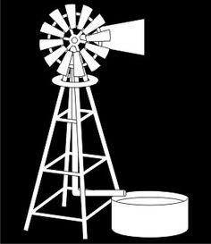 EN Design Element: Windmill, Simply Creative Farm Windmill, Windmill Decor, Stencil Wall Art, Stencils, Art Template, Templates, Free Collage, Wooden Cutouts, Train Art