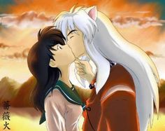 Anime Inuyasha And Kajoma Kiss