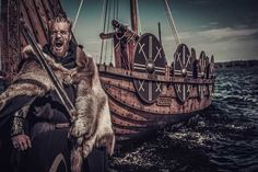 """Ragnar Lothbrok was a fearless Viking hero who ransacked England and France and fathered the Great Heathen Army. However the historicity of the man with """"hairy breeches"""" is subject to debate. Where does Ragnar the man end and the myth begin? Viking Power, Rune Viking, Viking Warrior, Viking Age, Ragnar Lothbrok, Ancient Myths, Ancient Artifacts, Viking Timeline, Statues"""