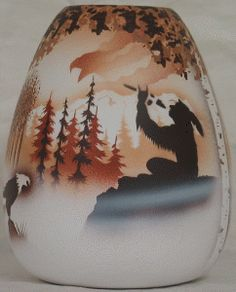"""Calling the Spirits Pottery - Westwater Vase. 4"""" x 5-1/2"""". Authentic Native American Pottery hand painted by Navajo and Ute Indian Artists. Certificate of Authenticity with each piece. Southwest Pottery. $34.95"""