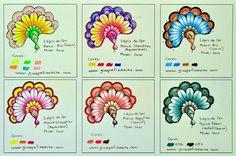 Atelier Gina Pafiadache: Sugestão de cores para os livros de colorir! #3
