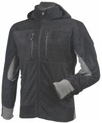 Features  SUPER FLEECE  • 6 zippered outer pockets  • Attached hood