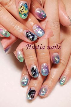 Little Mermaid nail