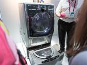 Smart home devices were ubiquitous at CES 2015, with the connected light switches, power plugs, and   hubs on display throughout the convention center halls and nearby hotel suites. But the most buzz-generating household tech came from LG when it debuted, of all things, a new washing machine.