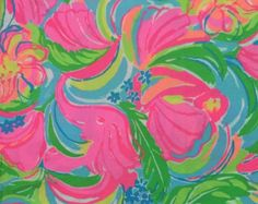 Lilly Pulitzer So A Peeling fabric piece. Lilly Pulitzer Fabric, I Shop, Prints, Painting, Art, Art Background, Painting Art, Paintings, Kunst