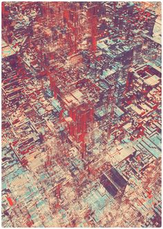 Pixel City II by atelier olschinsky , via Behance - Not especially pretty, but interesting from a generative art standpoint.