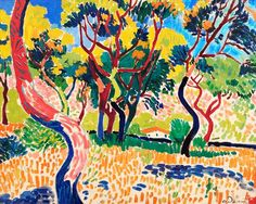 PROPERTY FROM THE VOLLARD COLLECTION André Derain ARBRES À COLLIOURE 9,000,000 — 14,000,000 GBP LOT SOLD. 16,281,250 GBP (Hammer Price with Buyer's Premium) DETAILS & CATALOGUING  André Derain 1880 - 1954 ARBRES À COLLIOURE signed A. Derain (lower right) oil on canvas 65 by 81cm. 25 5/8 by 31 7/8 in. Painted in 1905.