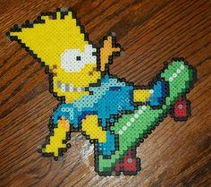 Bart Simpson perler beads by EternalBarrel on deviantart