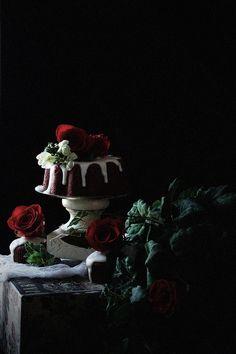 All Natural Red Velvet Bundt Cake with Goat Cheese Glaze