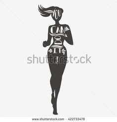 Motivational and inspirational illustration. - stock vector - Tap the pin if you love super heroes too! Cause guess what? you will LOVE these super hero fitness shirts! Fit Girl Motivation, Running Motivation, Fitness Motivation, Fitness Goals, Yoga Inspiration, Motivation Inspiration, Fitness Inspiration, Typographic Poster, Fitness Journal