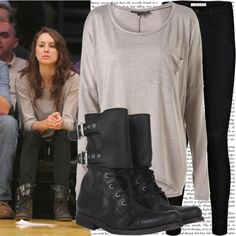 """""""troian bellisario at a lakers game with shay mitchell"""" by cla-90 ❤ liked on Polyvore"""