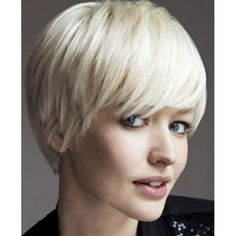 $9.88 Bob Style Side Bang Synthetic Attractive Light Blonde Short Capless Straight Wig For Women