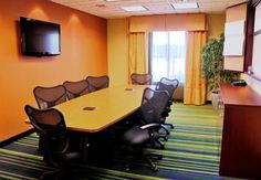 North Platte's newest hotel, the Fairfield Inn serves well for small meetings.
