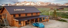 The Sawtooth Hotel in Stanley, Idaho looks like a dream.