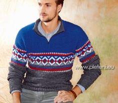 PLETENÍ – NÁVODY – Katalog návodů zdarma pro ruční pletení Men Sweater, Sweaters, Blog, Life, Fashion, Moda, Fashion Styles, Men's Knits, Sweater
