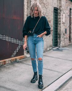 Doc martens style, dr martens outfit, winter dresses, spring outfits, red j Winter Fashion Outfits, Fall Winter Outfits, Winter Dresses, Fashion Fashion, Winter Clothes, Winter Shoes, Womens Fashion, Ootd Winter, Casual Winter