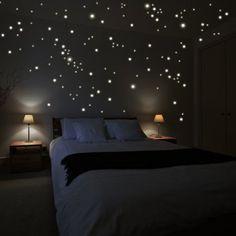 """Wandkings Wandsticker """"250 Stück Leuchtpunkte für Sternenhimmel"""" Fluoreszierend & im Dunkeln leuchtend: Amazon.de: Küche & Haushalt"""