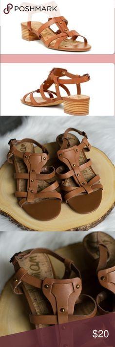 b08617529 Sam Edelman Angela Sandal Brown Leather 9 Beautiful brown leather Sam  Edelman sandals with a short