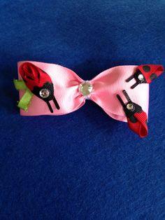 Pink LadyBug Hair Clip