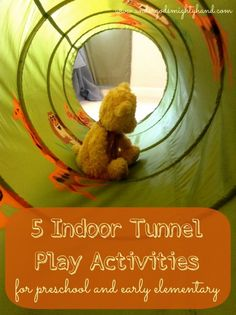 5 indoor tunnel play activities for preschool and early elementary ages {undergodsmightyhand.com}