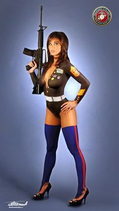 Body Painted Beauties of the Armed Forces (19 NSFW Photos)