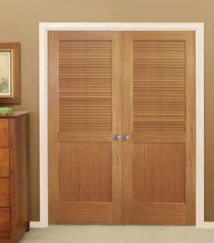 Primed White Louvered Doors by HomeStory Doors   HomeStory Authentic Wood Interior  Doors   Pinterest   Interior doors, Laundry