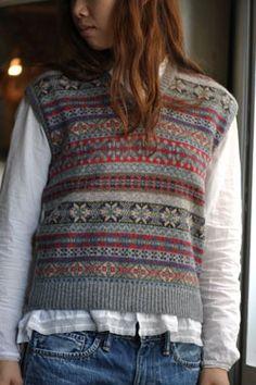 Love how this classic Fair Isle vest looks so modern!