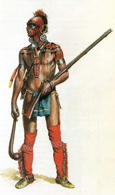 """Huron warrior just after winning coolest war paint of all time award"" au XVIIème siècle"