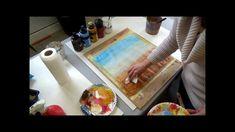 acrylic abstract with glazes