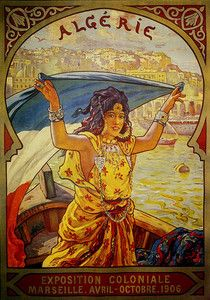 Algeria 1906 Travel Vintage Poster