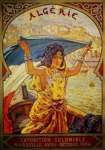#Algeria  1906  Travel Vintage Poster