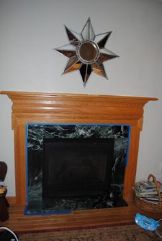 Diy tile over marble fireplace makeover i wonder if i can talk my do it yourself fireplace makeover solutioingenieria Choice Image