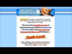 Oral Herpes Treatment | One Minute Herpes Cure Book Review