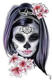 R sultat de recherche d 39 images pour santa muerte dessin old new school pinterest santa - Santa muerte tatouage signification ...