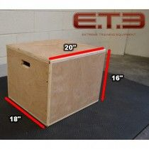 SMALL 3-IN-1 WOOD PLYO BOX