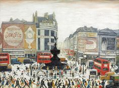 L S Lowry, Piccadilly Circus, London, 1960